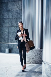 Series of business woman working in Milan.